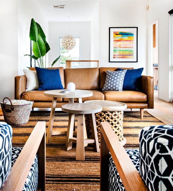 Trend Spotting The Mid Century Modern Cognac Sofa W