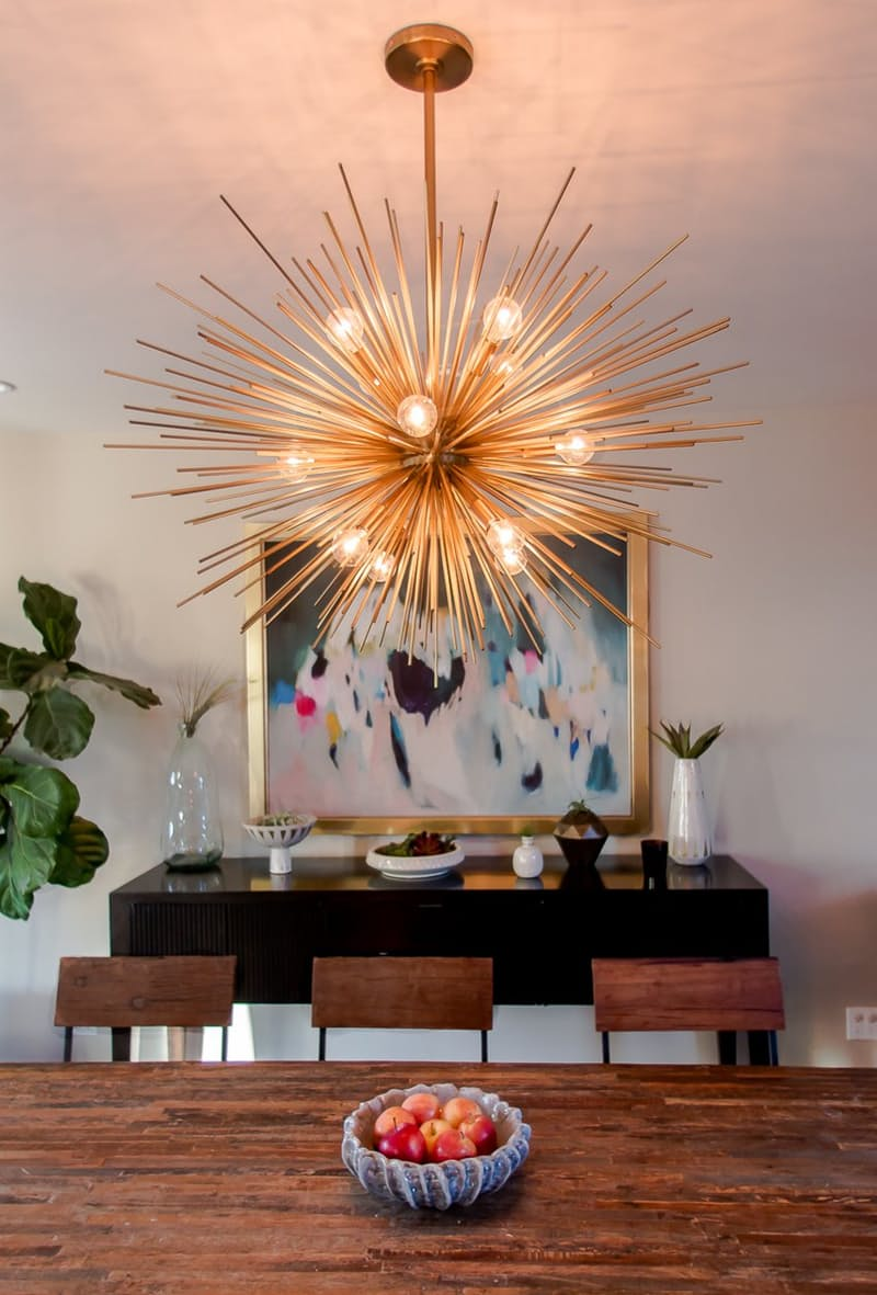 Updating with affordable light fixtures w collective for W hoboken in room dining