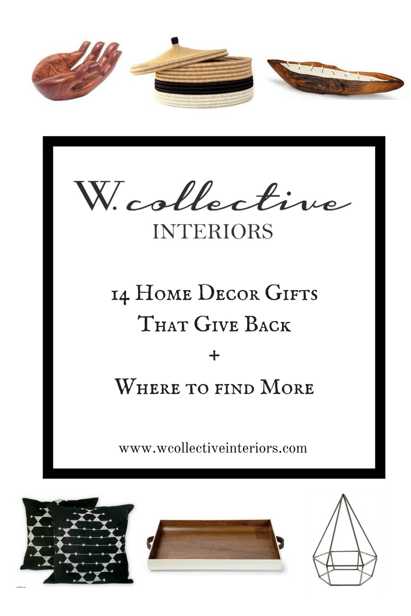 14 home decor gifts that give back where to find more for Home decor gifts